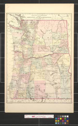 Primary view of object titled 'County and township map of Oregon and Washington.'.