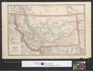 Primary view of object titled '[Maps of Montana, Idaho, and Wyoming]'.