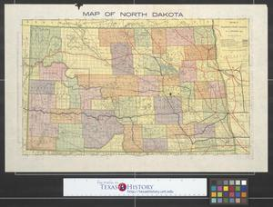 Primary view of object titled 'Map of North Dakota.'.