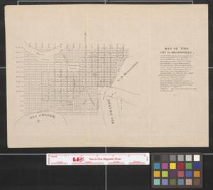 Primary view of object titled 'Map of the city of Brownsville.'.