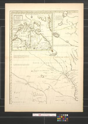 Primary view of Amerique septentrionale avec les routes, distances en milles, villages et etablissements [Sheet 1].