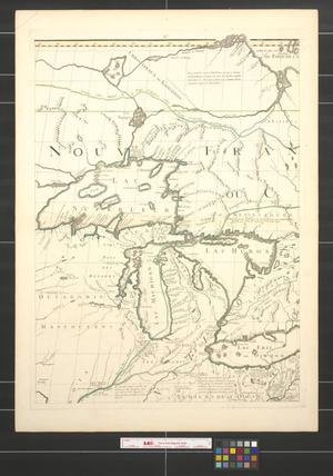 Primary view of object titled 'Amerique septentrionale avec les routes, distances en milles, villages et etablissements [Sheet 2].'.