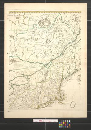 Primary view of object titled 'Amerique septentrionale avec les routes, distances en milles, villages et etablissements [Sheet 3].'.