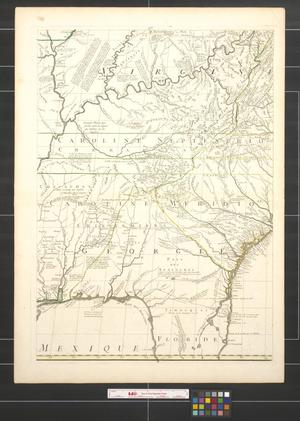 Primary view of object titled 'Amerique septentrionale avec les routes, distances en milles, villages et etablissements [Sheet 6].'.