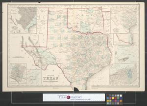 Primary view of object titled 'Gray's new map of Texas and the Indian Territory.'.