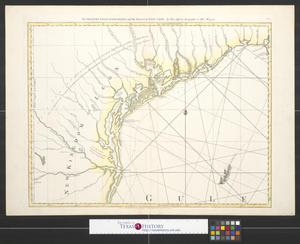 Primary view of The western coast of Louisiana and the coast of New Leon.