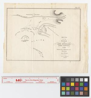 Primary view of object titled 'Sketch of the Battle de Los Angeles, Upper California, fought between the Americans and Mexicans, January 9th, 1847.'.
