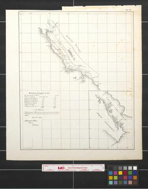Primary view of object titled '[Map of California coast and military posts]'.