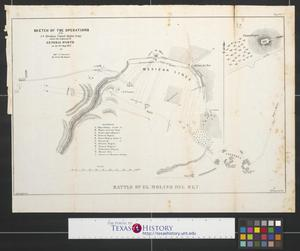 Primary view of object titled 'Sketch of the operations of the 1st Division United States Army under the command of General Worth on the 8th Sept. 1847 battle of El Molino del Rey'.