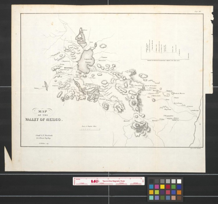 Map Of The Valley Of Mexico The Portal To Texas History