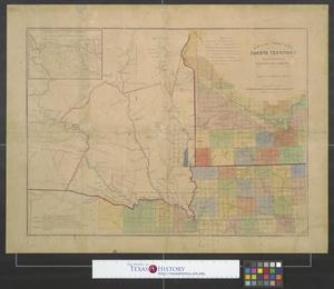 Primary view of object titled 'Map of the ceded part of Dakota Territory showing also portions of Minnesota, Iowa & Nebraska.'.