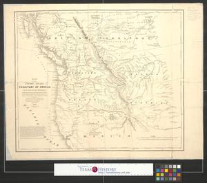 Primary view of object titled 'Map of the United States Territory of Oregon west of the Rocky Mountains exhibiting the various trading depots or forts occupied by the British Hudson Bay Company, connected with the western and northwestern fur trade.'.