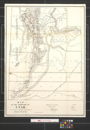 Primary view of object titled 'Map of the Territory of Utah.'.