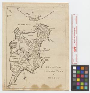 Primary view of object titled 'A New and Correct Plan of the Town of Boston.'.