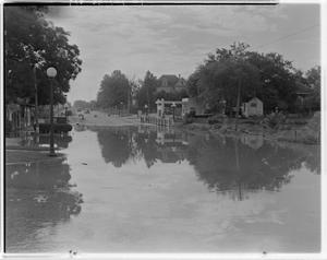 Primary view of object titled '[Photograph of a Flooded Road]'.