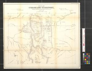 Primary view of object titled 'Map of Colorado territory compiled from government maps & actual surveys, made in 1861.'.
