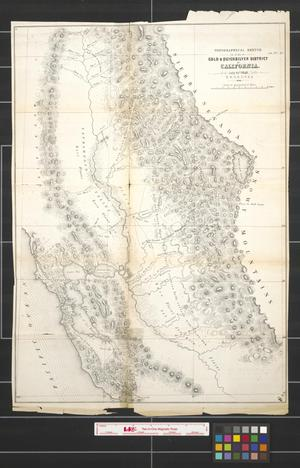 Primary view of object titled 'Topographical sketch of the gold & quicksilver district of California, July 25, 1848.'.