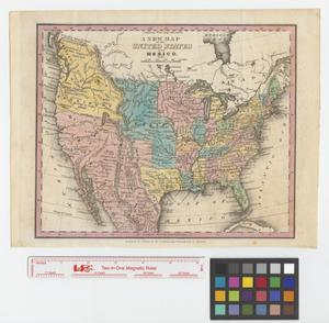 Primary view of A New map of the United States and Mexico.
