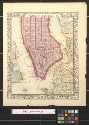 Primary view of object titled 'Plan of New York [City]'.