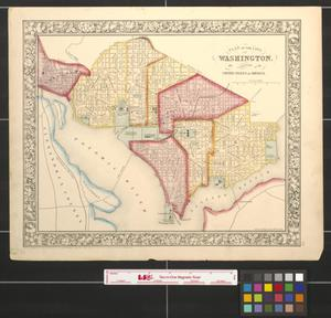 Primary view of object titled 'Plan of the city of Washington the capitol of the United States of America [1861].'.