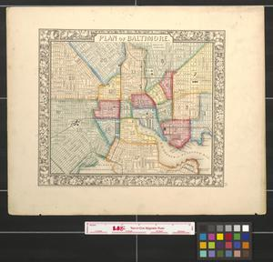 Primary view of object titled 'Plan of Baltimore.'.