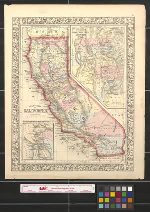 Primary view of object titled 'County map of California.'.