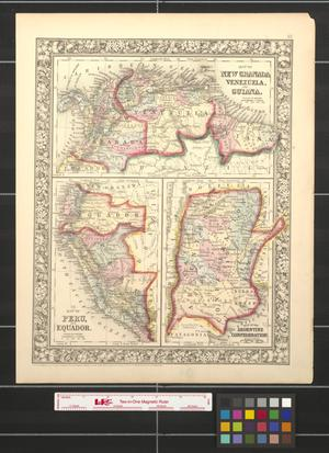 Primary view of object titled '[Maps of New Granada, Venezuela, Guiana, Peru, Equador, and the Argentine Confederation]'.