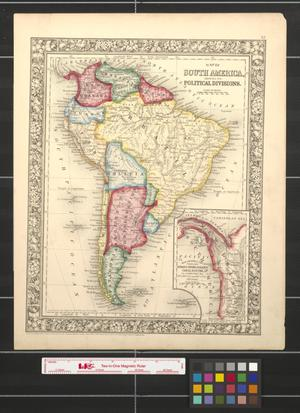 Primary view of Map of South America, showing its political divisions.