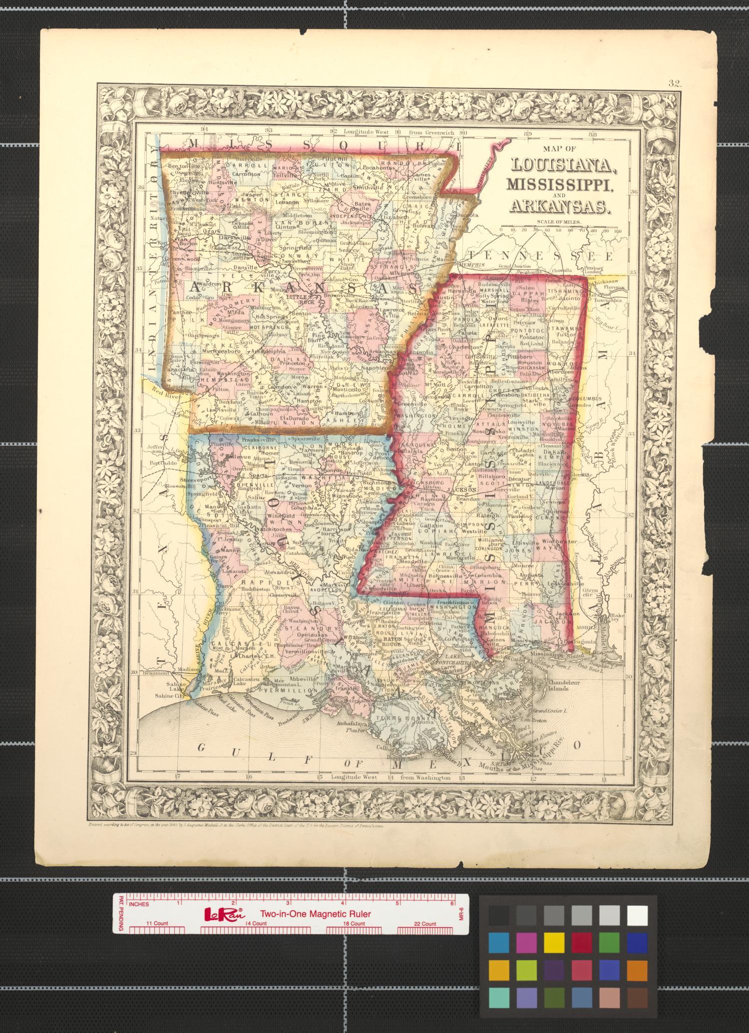 Map Of Louisiana Mississippi And Arkansas The Portal
