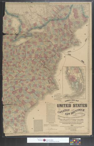 Primary view of object titled 'Lloyd's new map of the United States, the Canadas and New Brunswick [sheet 1]'.
