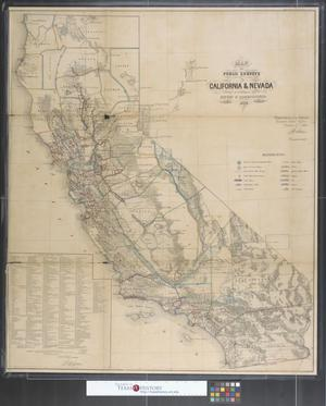 Primary view of object titled 'Map of public surveys in California & Nevada.'.