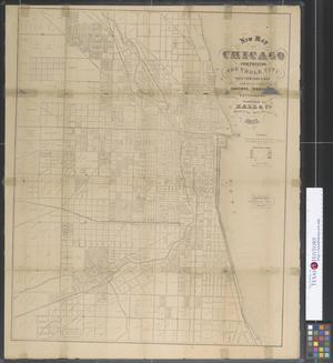 Primary view of object titled 'New map of Chicago.'.