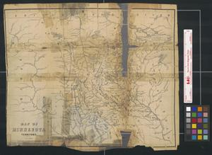Primary view of object titled 'Map of Minnesota territory.'.