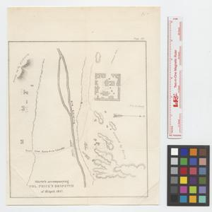 Primary view of object titled 'Sketch accompanying Col. Price's despatch of 18 April 1847.'.
