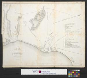 Primary view of object titled 'La Paz (Lower California) and its environs showing the positions occupied by the U.S. troops and the Mexicans, during attacks in November & December 1847.'.