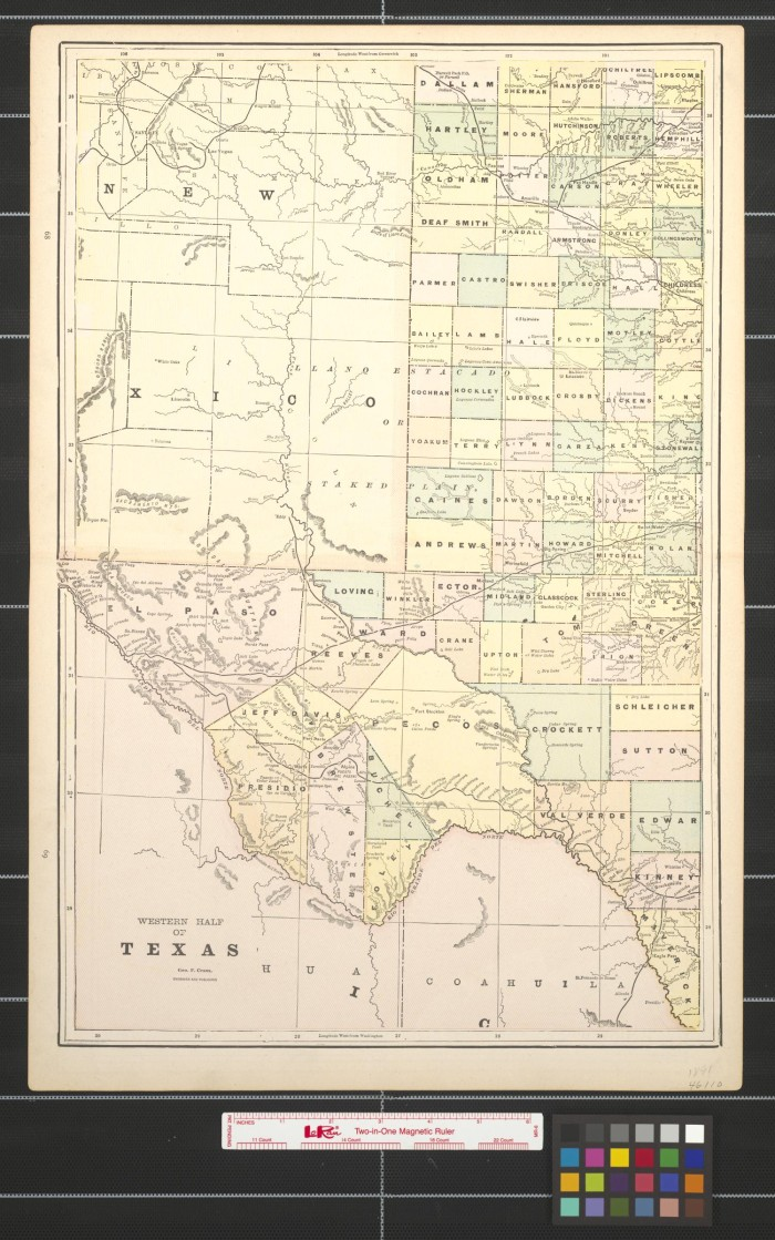 Map Of Western Texas.Maps Of Western Texas Wyoming And Utah The Portal To Texas History