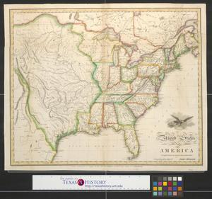 Primary view of object titled 'United States of America compiled from the latest & best authorities.'.
