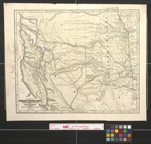 Primary view of object titled 'A map of the Indian territory, northern Texas and New Mexico [map] showing the great western prairies.'.