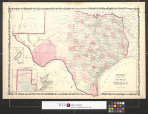 Primary view of object titled 'Johnson's new map of the state of Texas.'.