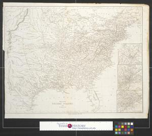Primary view of object titled 'Map of the United States and Texas.'.