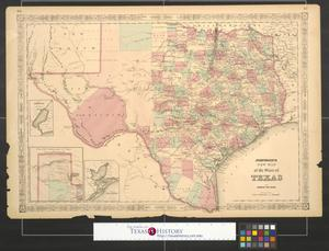 Primary view of object titled 'Johnson's new map of the state of Texas'.