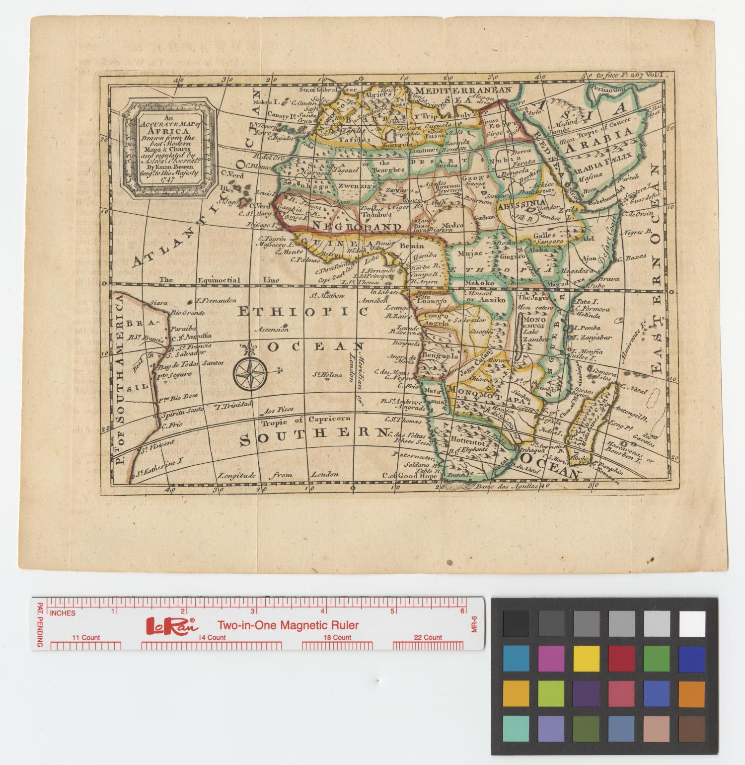 An accurate map of Africa drawn from the best modern maps & charts and regulated by astronoml. observatns.                                                                                                      [Sequence #]: 1 of 2