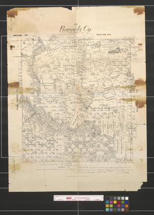 Primary view of object titled 'Map of Runnels Co.'.