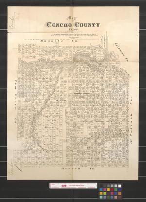 Primary view of object titled 'Map of Concho County, Texas.'.