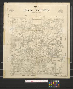 Primary view of object titled 'Map of Jack County, Texas.'.