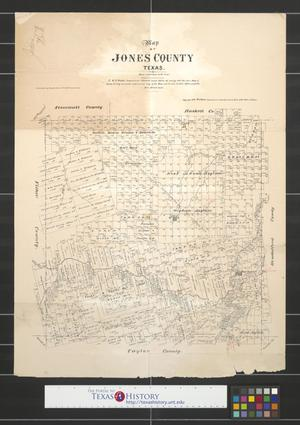 Primary view of object titled 'Map of Jones County, Texas.'.