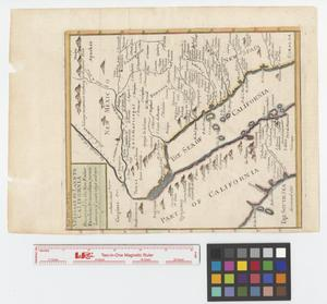 Primary view of object titled 'A passage by land to California discovered by the Rev. Father Eusebius Francis Kino Jesuite between ye years 1698 and 1701.'.