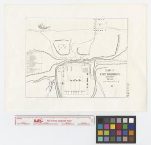 Primary view of object titled 'Map of Fort Richardson, and vicinity, Texas.'.