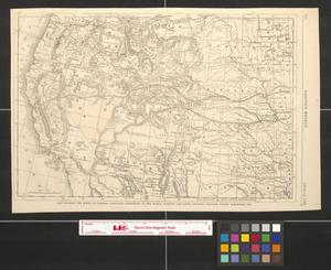 Primary view of object titled 'Map showing the scene of General Hancock's operations in the Indian country, the forts, military stations, Pacific railroads, etc.'.