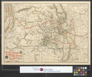 Primary view of object titled 'Map of the Denver & Rio Grande and Rio Grande Western system.'.